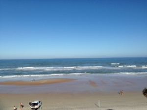 View from the balcony at Daytona Beach